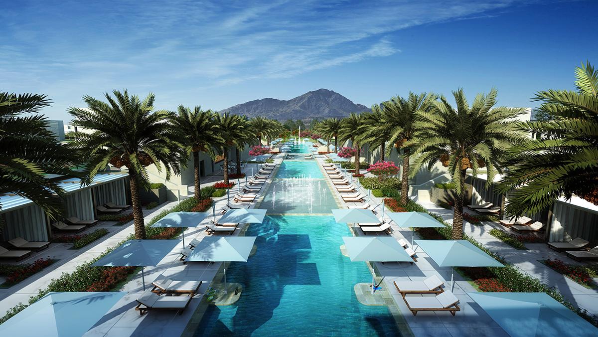 the best resort pool at Ritz Carlton Arizona
