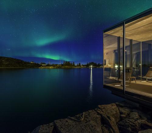 Arctic Circle Aurora Borealis at Manshausen Cabin