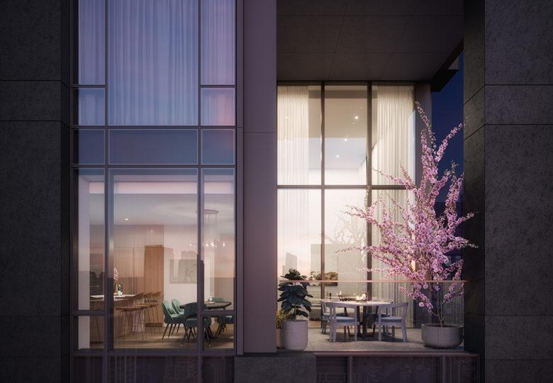 New York luxury penthouse balcony