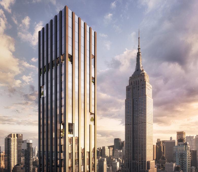 New York penthouse and skyline