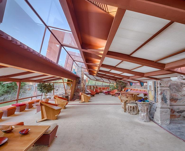 Open design space by Frank Lloyd Wright Taliesan West
