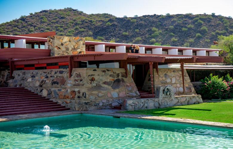 Pool design at Taliesan West by Frank Lloyd Wright