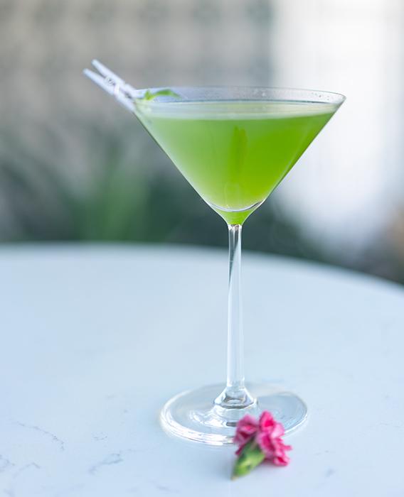 basil cucumber martini by Moutain Shadows Resort AZ