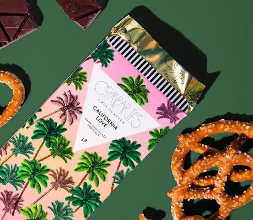 chocolate and pretzel Compartes bars