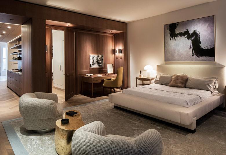 luxury master bedroom New York brownstone