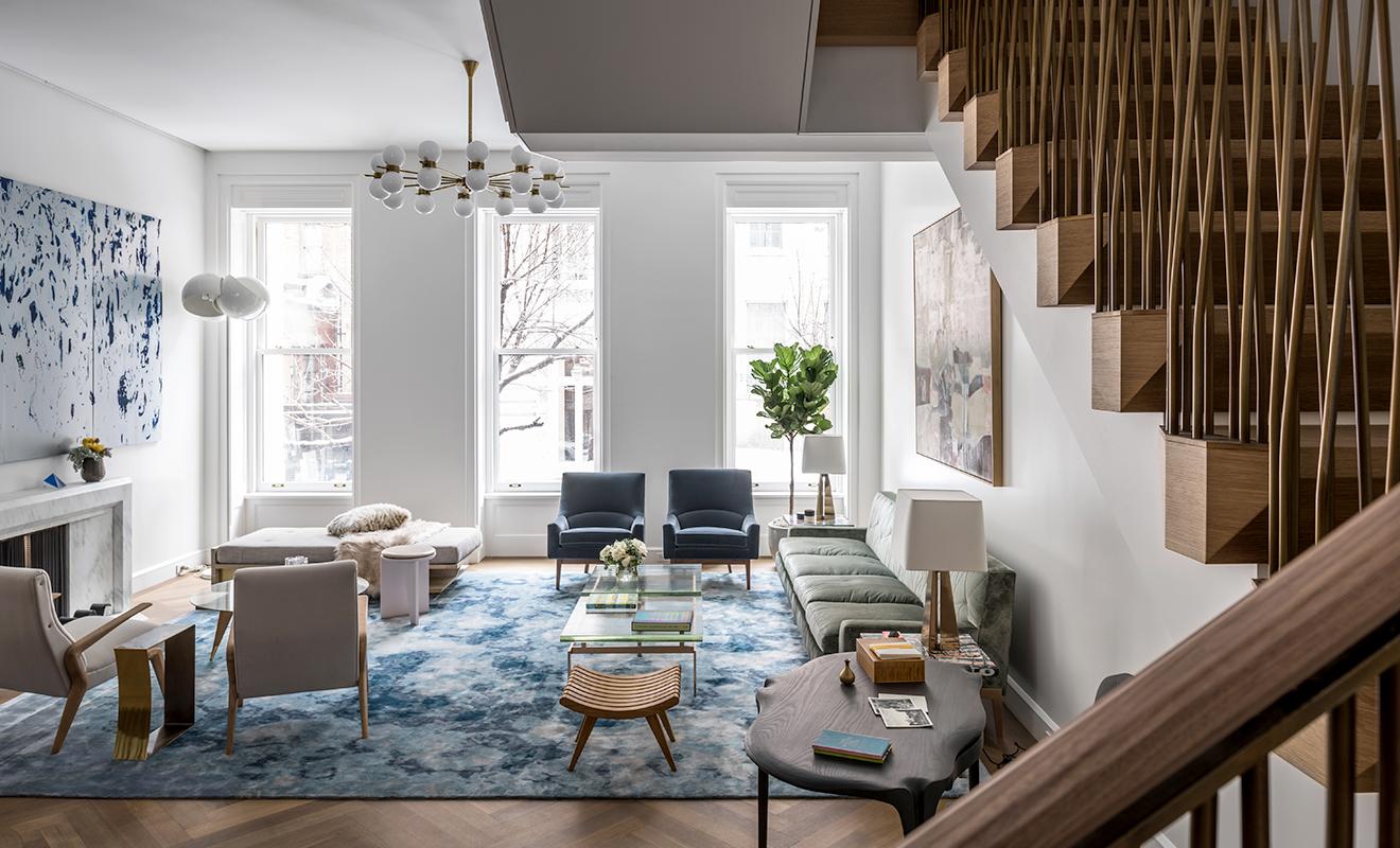 modern Upper east side living room brownstone