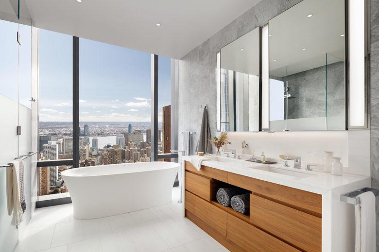 modern bathroom design NY luxury penthouse