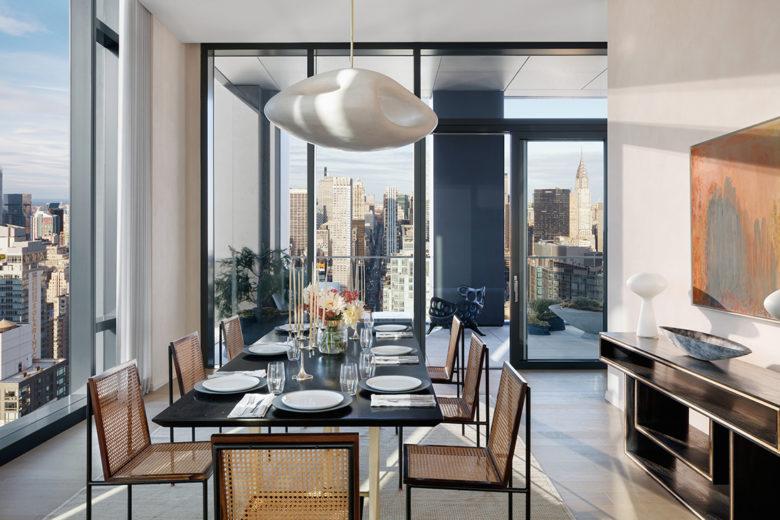modern dining room New York luxury penthouse
