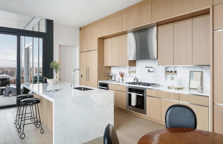 modern kitchen luxury New York penthouse