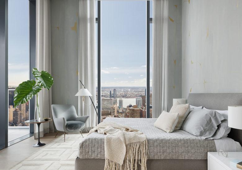 modern master bedroom NY luxury penthouse