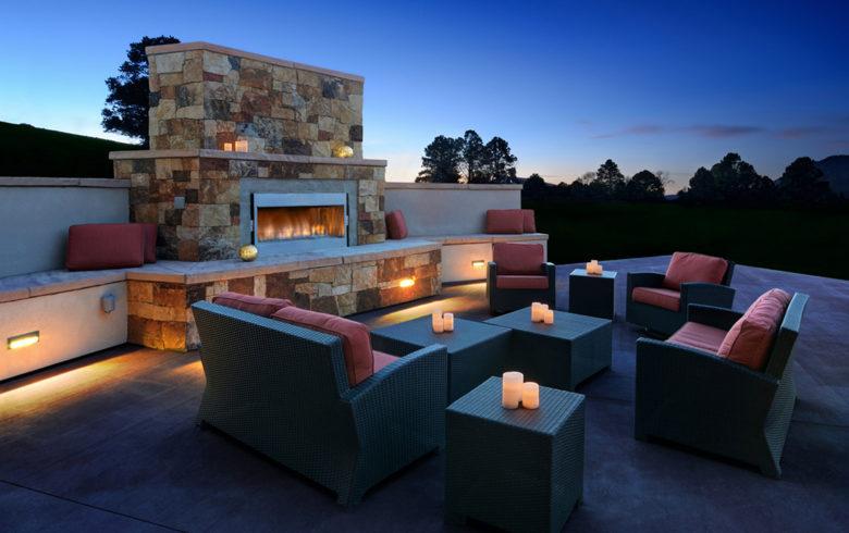 outdoor patio at STRATA Wellness Spa Colorado