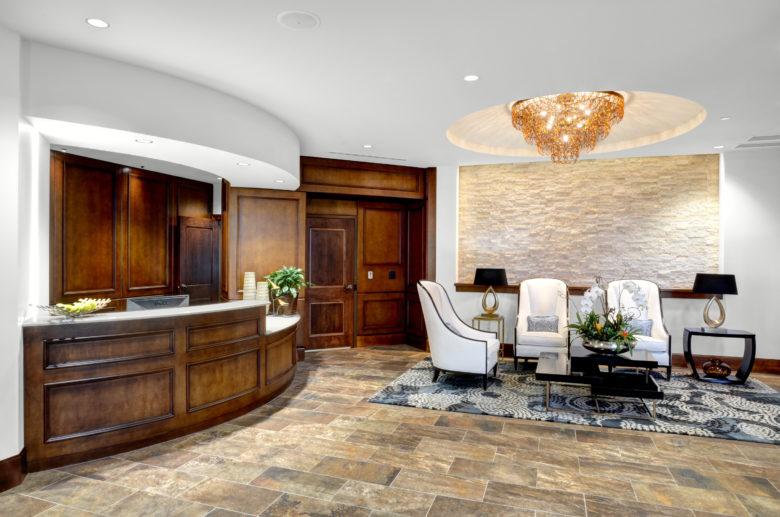 spa lobby at STRATA Wellness spa