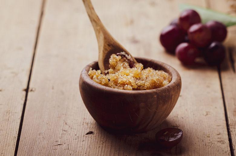 brown sugar and vanilla body scrub spa treatment