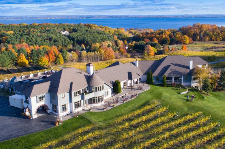 Chateau Chantal vineyard hotel in Traverse City Michigan