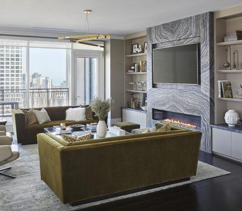 Donna Monday luxury Chicago high rise interior design