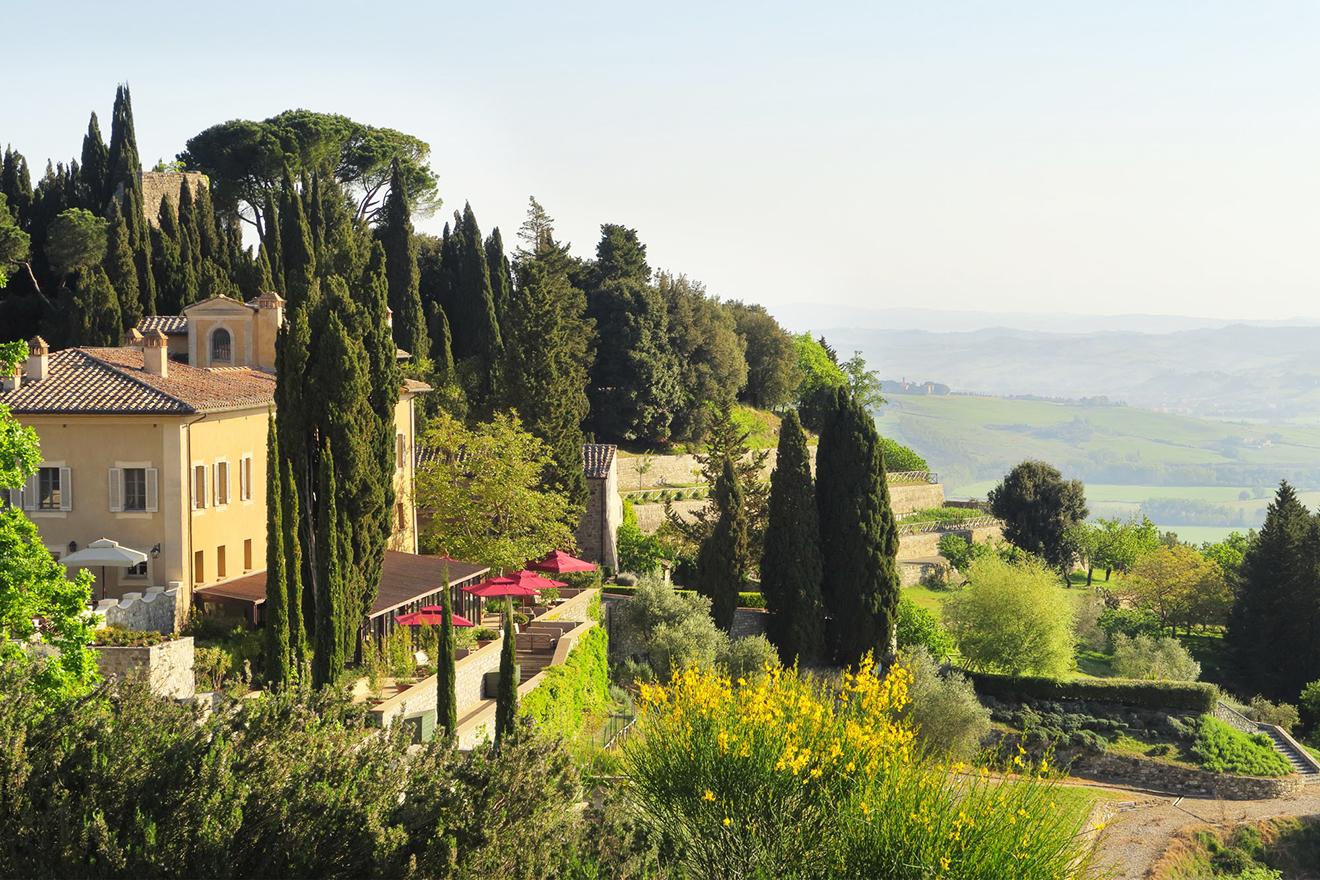 Rosewood vineyard hotel in Montalcino Italy