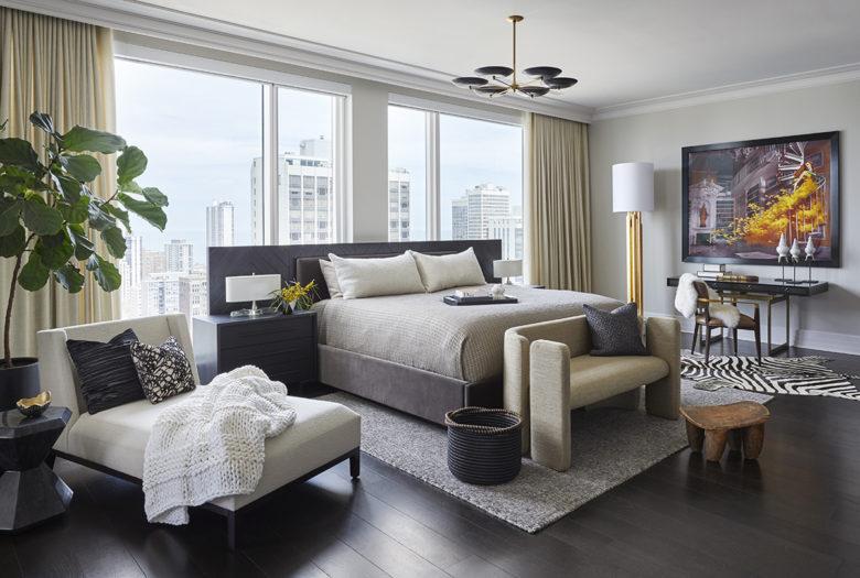 luxury Chicago high rise interior design by Donna Mondi