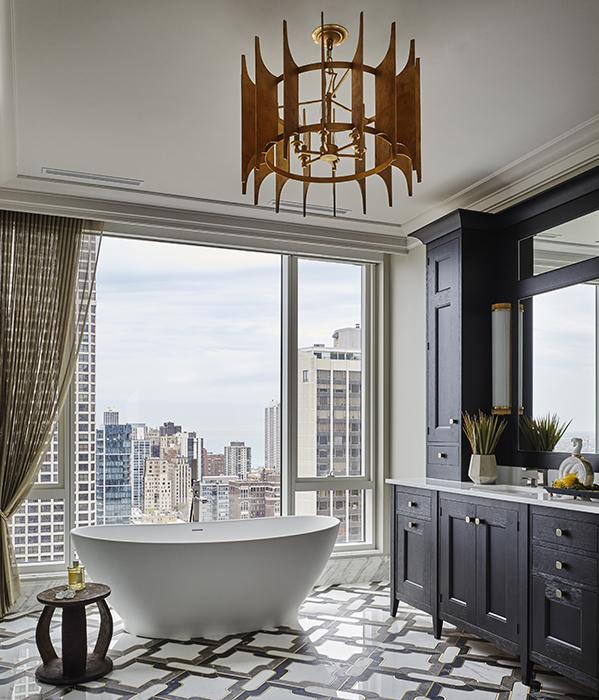 luxury high rise bathroom design by Donna Mondi