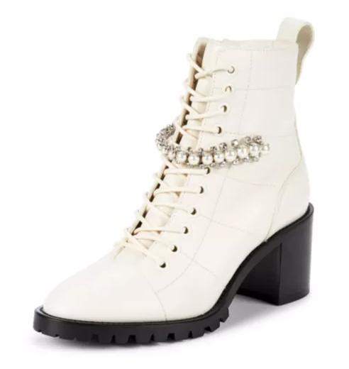 Jimmy Choo leather combat fall boots