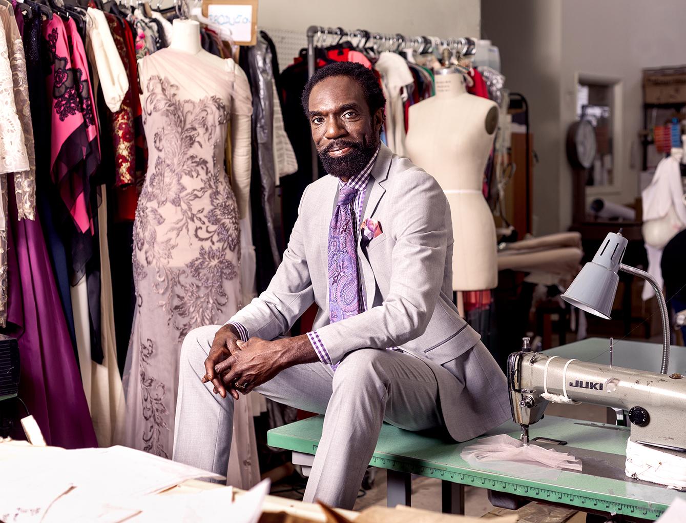 Kevan Hall celebrity fashion designer