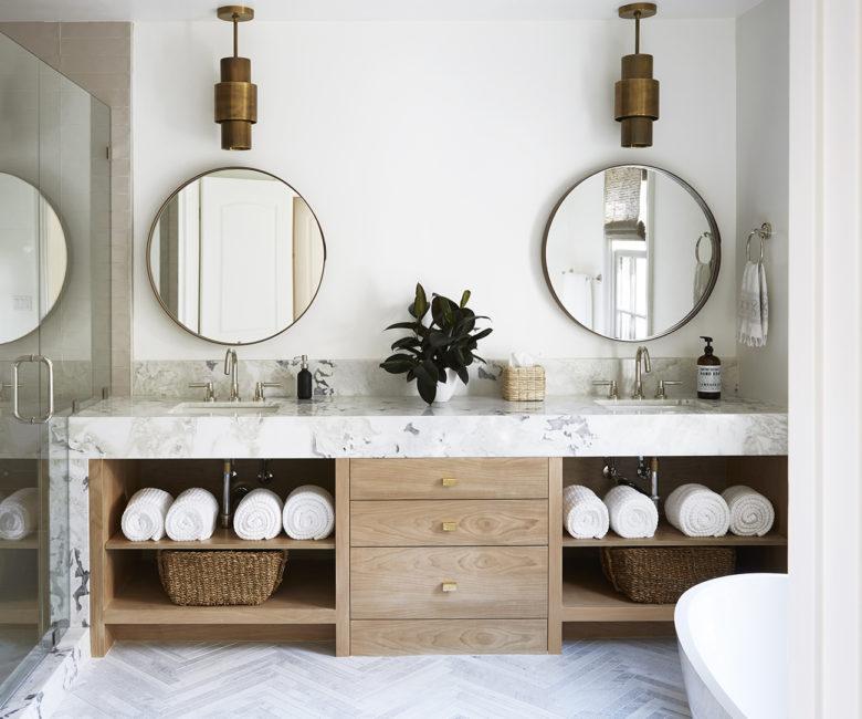 modern bathroom interior design by Anne Carr