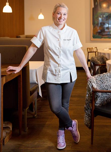 Emma Bengtsson chef at Aquavit New York