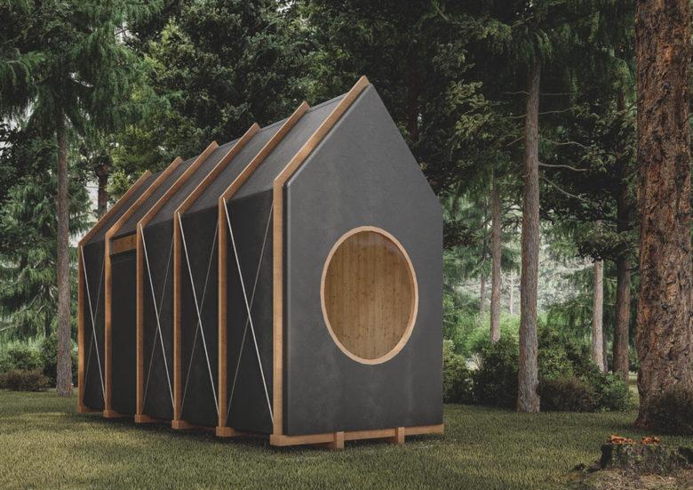 Hello Wood self build mini echo chic cabins
