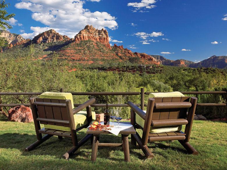 L'Auberge in Sedona is a romantic resort in Arizona