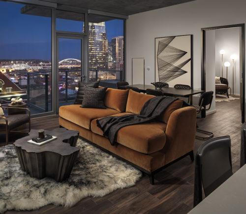 Nashville high rise luxury apartment by Jules Wilson Design Studio
