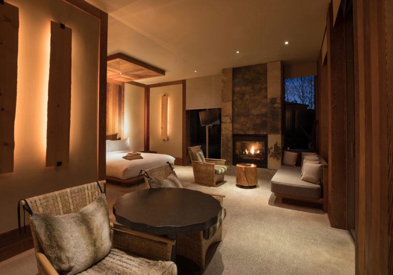 Wyoming romantic hotel rooms at Amangani