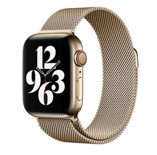 designer luxury Apple watch band by Milanese Loop