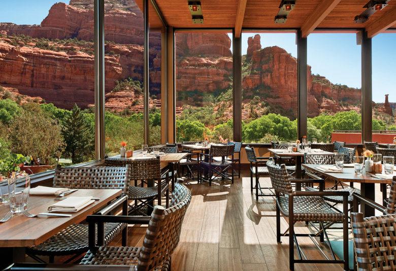 dining room at The Enchantment Resort in Sedona Arizona