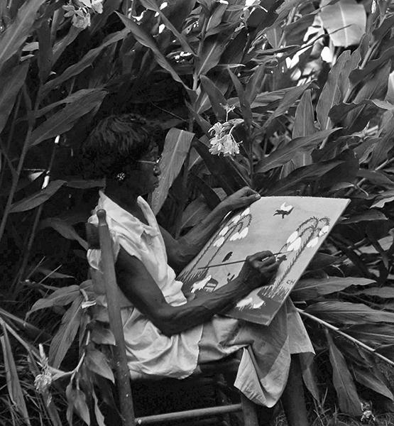 famous artist Clementine Hunter at Melrose Plantation