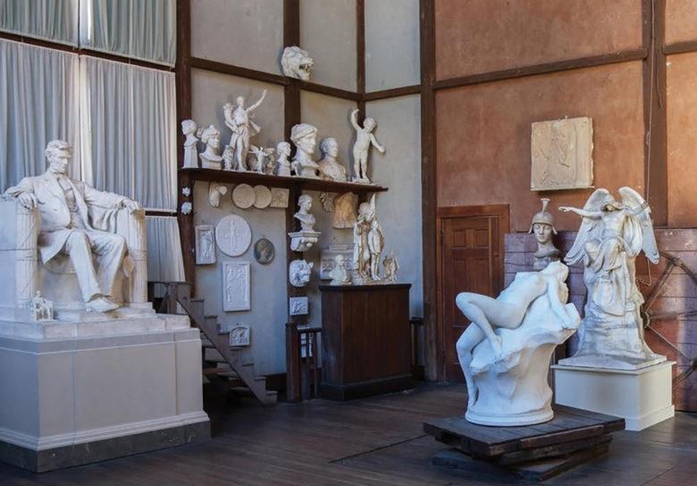 famous artist Daniel Chester French's studio in Stockbridge MA