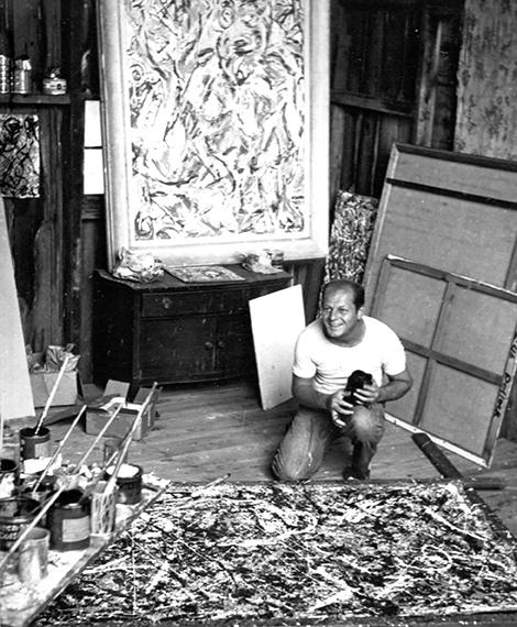 famous artist Jackson Pollocks studio in East Hampton NY.