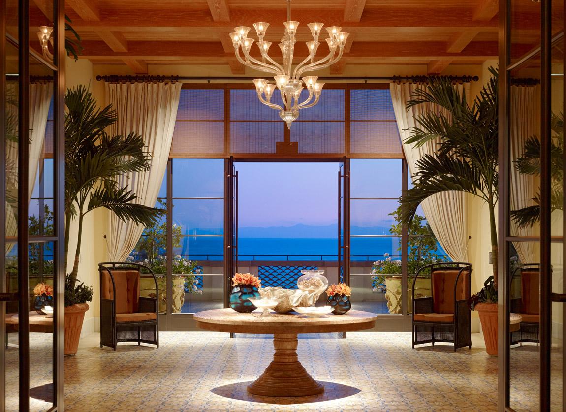 lobby at the luxury Terranea Resort in California