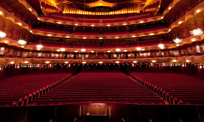 luxury interior in the Metropolitan Opera House