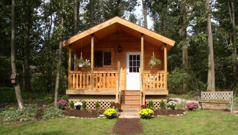 mini self build log cabins by Conestoga