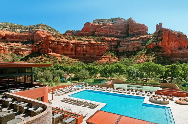 pool at The Enchantment Resort in Sedona Arizona
