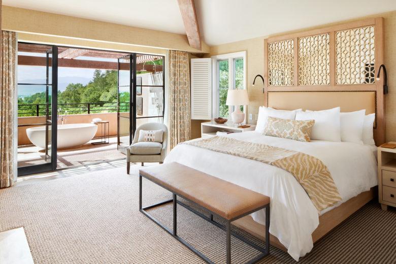 romantic hotel suite at Auberge du Soleil in Napa