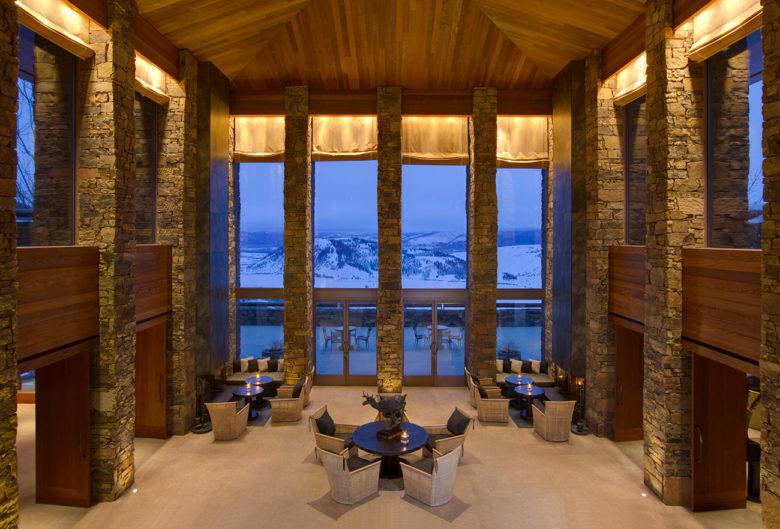 romantic resort at Amangani in Wyoming