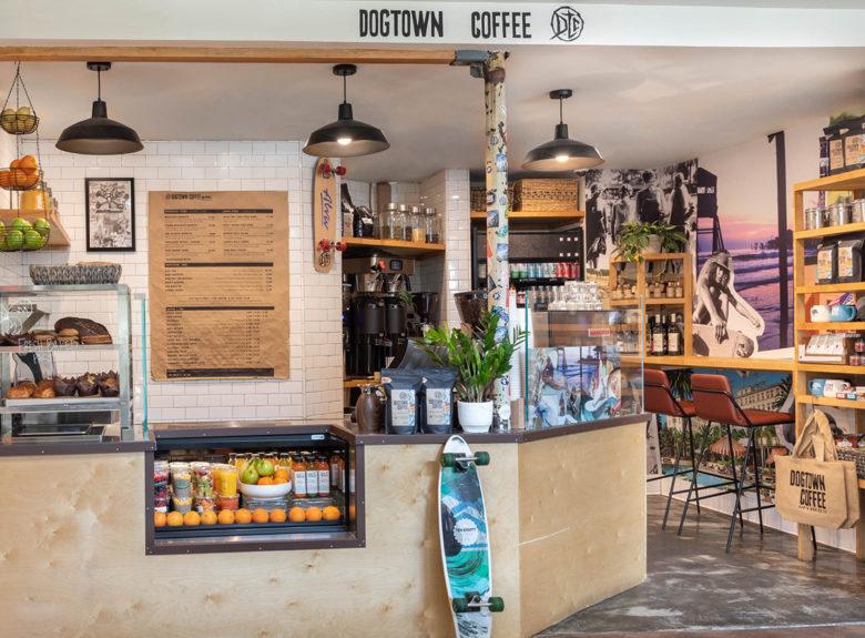 Dogtown Coffee Shop in The Fairmont Hotel in Santa Monica, California