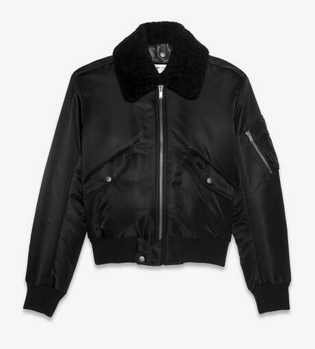 Saint Laurent winter bomber jacket for women
