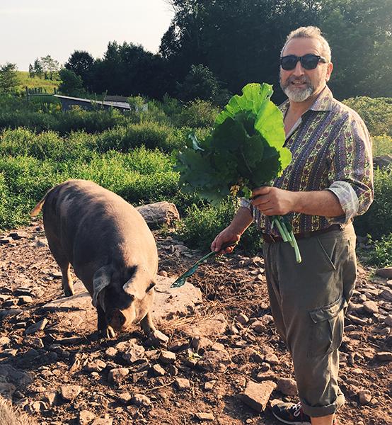 farming with prosciutto curemaster Cesare Casella