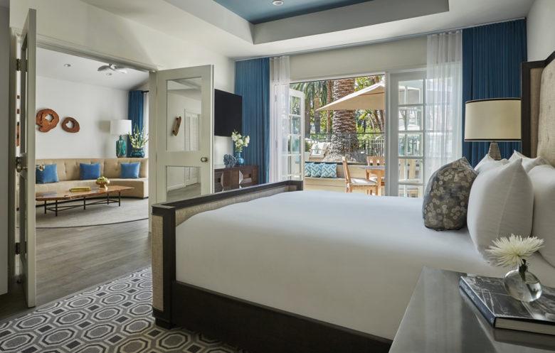 luxury bungalow at the 5-star Fairmont Miramar hotel in California