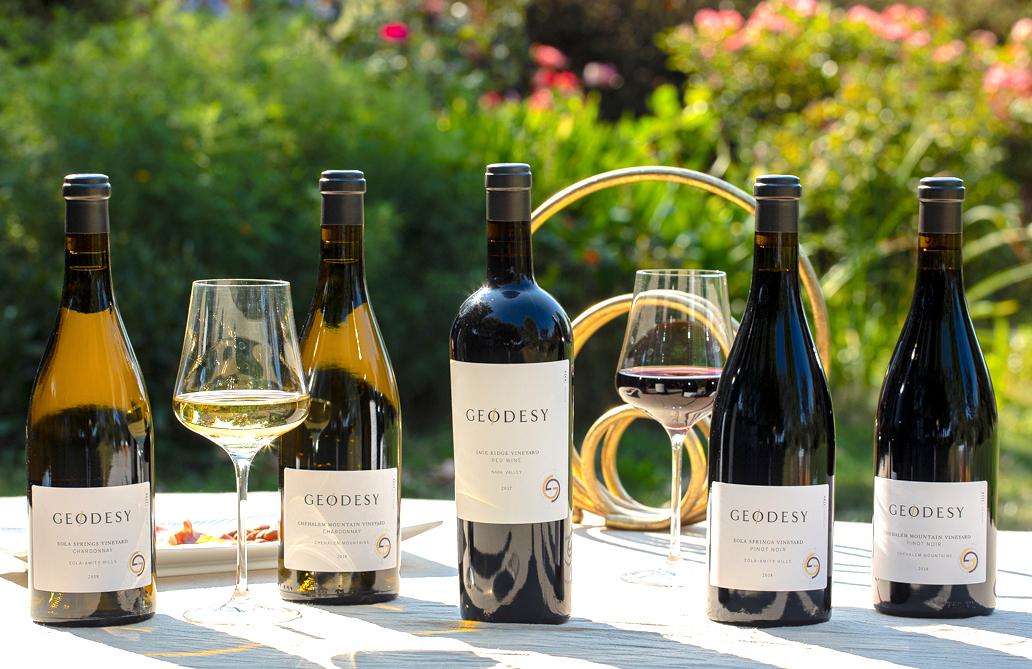Judy Jordan's new vineyard Geodesy