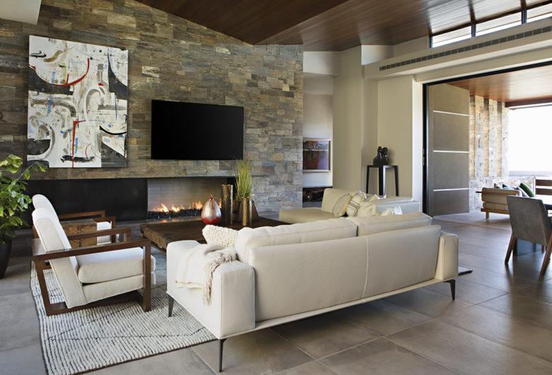 modern great room design by Swaback Associates