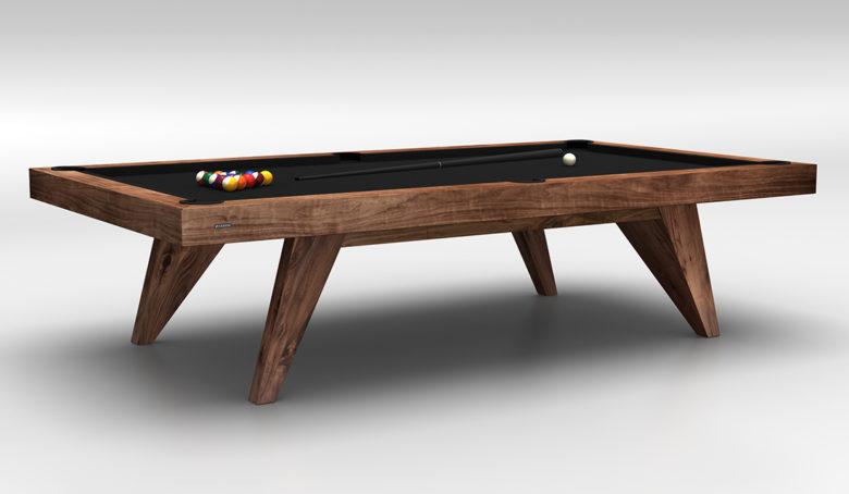 11 Ravens Trigon walnut luxury pool table