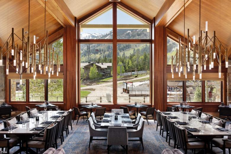 best design ski resort dining Four Seasons Wyoming