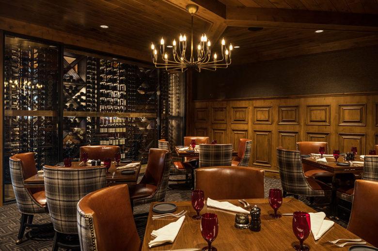 best design ski resort dining at The Narrows Idaho